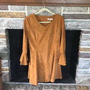 Aryeh Suede Dress- Size Large